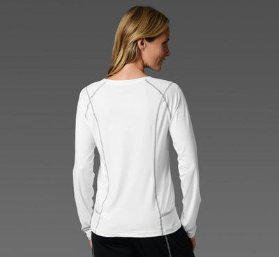 Women's Long Sleeve Tee white back