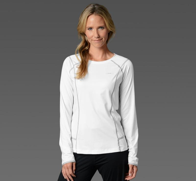 Women's Long Sleeve Tee white front