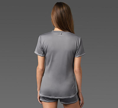 Women's Short Sleeve Tee graphite back