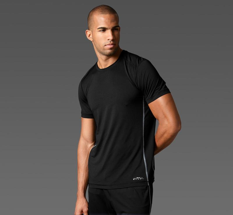 Men's Short Sleeve Tee black front