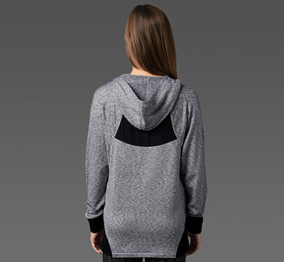 Women's Sport Hoodie heather-grey back