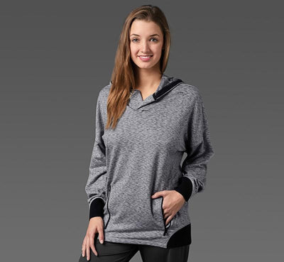 Women's Sport Hoodie heather-grey front