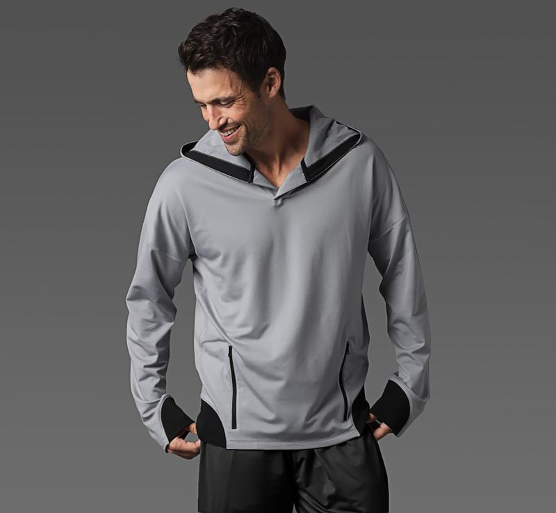 Men's Sport Hoodie light-grey front