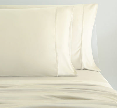LUXURY COPPER Pillowcases shown in ivory #choose-your-color_ivory