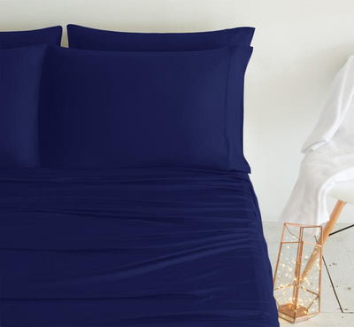 LUXURY COPPER Pillowcases navy 2