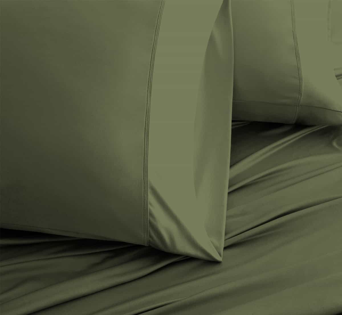 LUXURY COPPER Olive Color Pillowcases 1