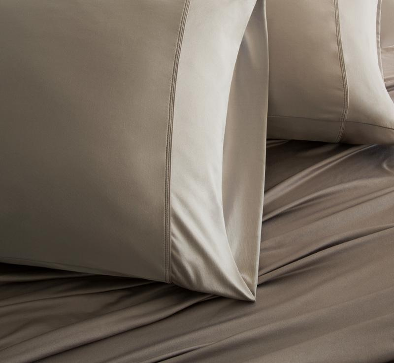 LUXURY COPPER Pillowcases taupe 3