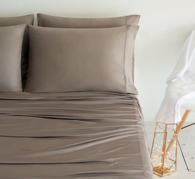 LUXURY COPPER Pillowcases taupe 2
