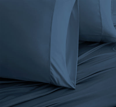 LUXURY COPPER Pillowcases shown in teal #choose-your-color_teal