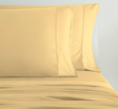LUXURY COPPER Pillowcases shown in yellow #choose-your-color_yellow