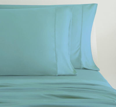 LUXURY COPPER Pillowcases shown in aqua #choose-your-color_aqua