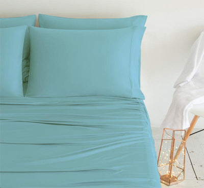 LUXURY COPPER Pillowcases aqua 2