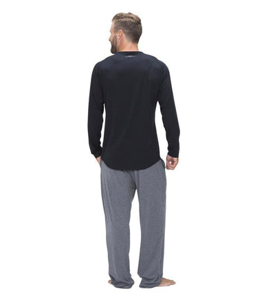 828 Men's Long Sleeve Easy Tee black back