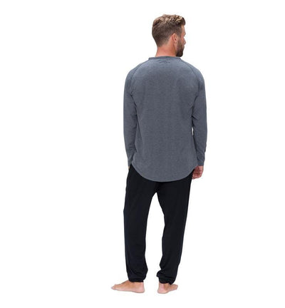 828 Men's Long Sleeve Easy Tee heather-gray back