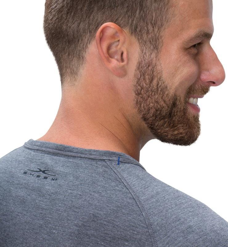 828 Men's Long Sleeve Easy Tee heather-gray detail