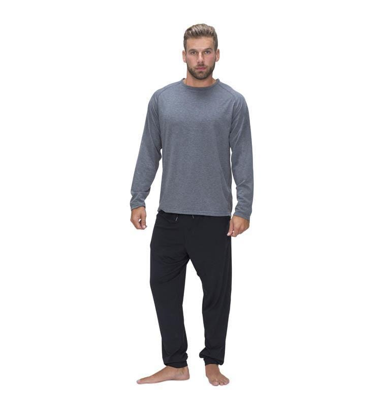 828 Men's Long Sleeve Easy Tee heather-gray front