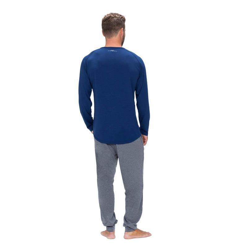 828 Men's Long Sleeve Easy Tee navy back