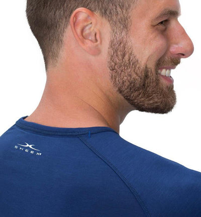 828 Men's Long Sleeve Easy Tee navy detail