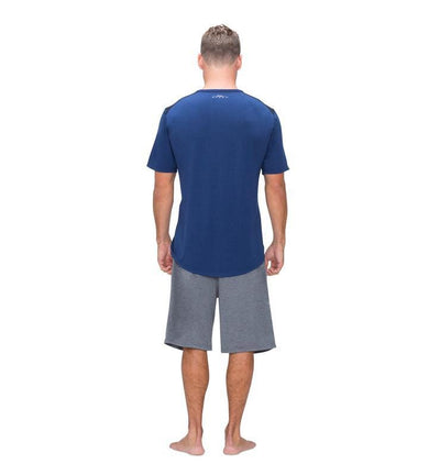 Men's Short Sleeve Easy Tee navy back