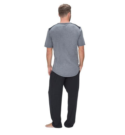 Men's Short Sleeve Easy Tee heather-gray back