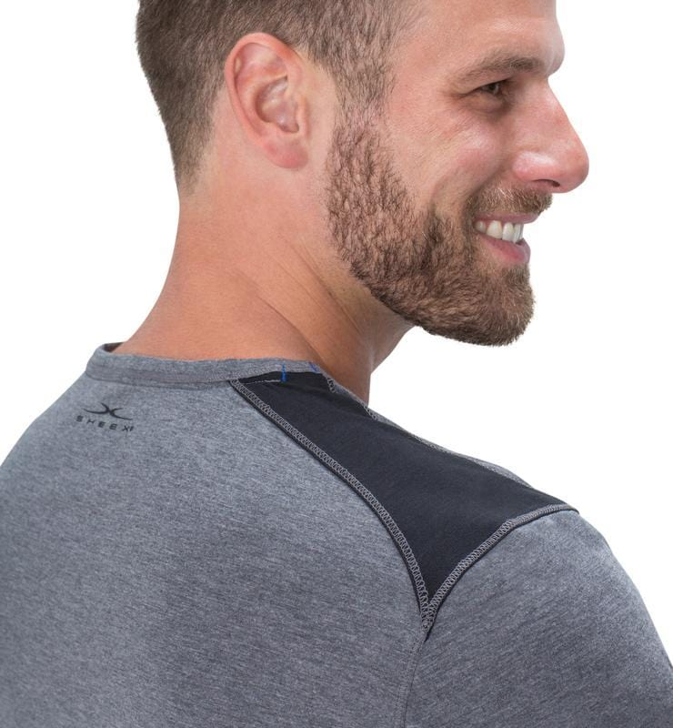 Men's Short Sleeve Easy Tee heather-gray detail