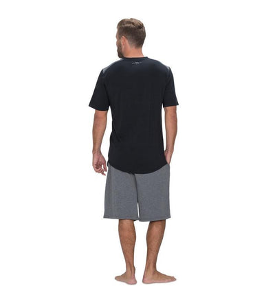 828 Men's Short Sleeve V-Tee black back