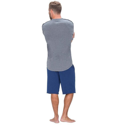 828 Men's Short Sleeve V-Tee heather-gray back