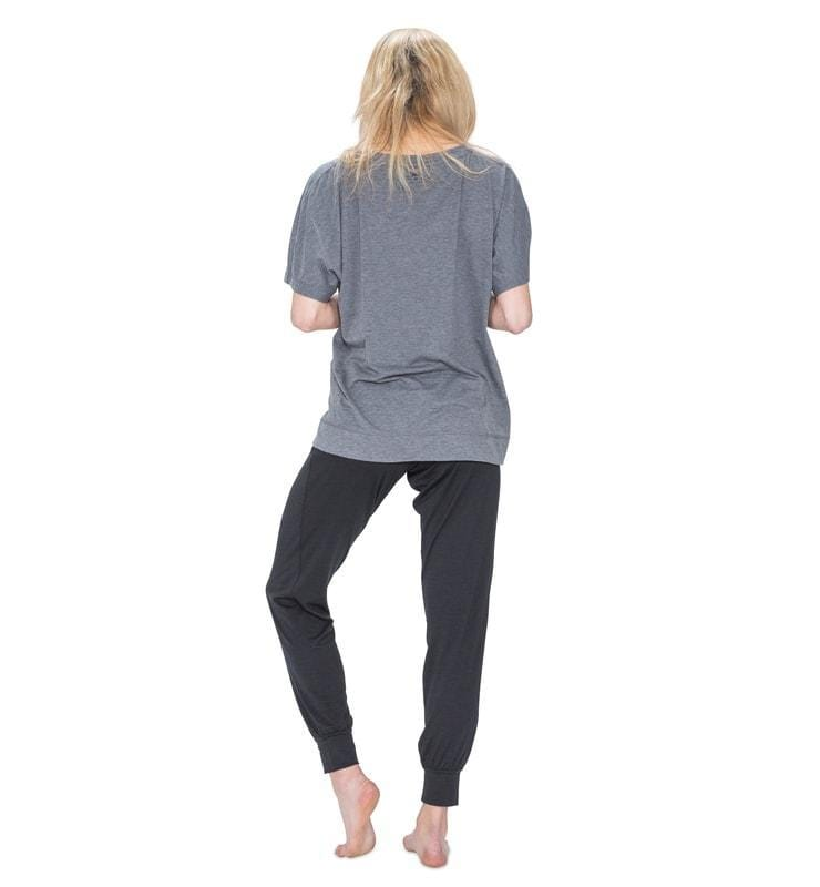 828 Women's Short Sleeve Easy Tee heather-gray back