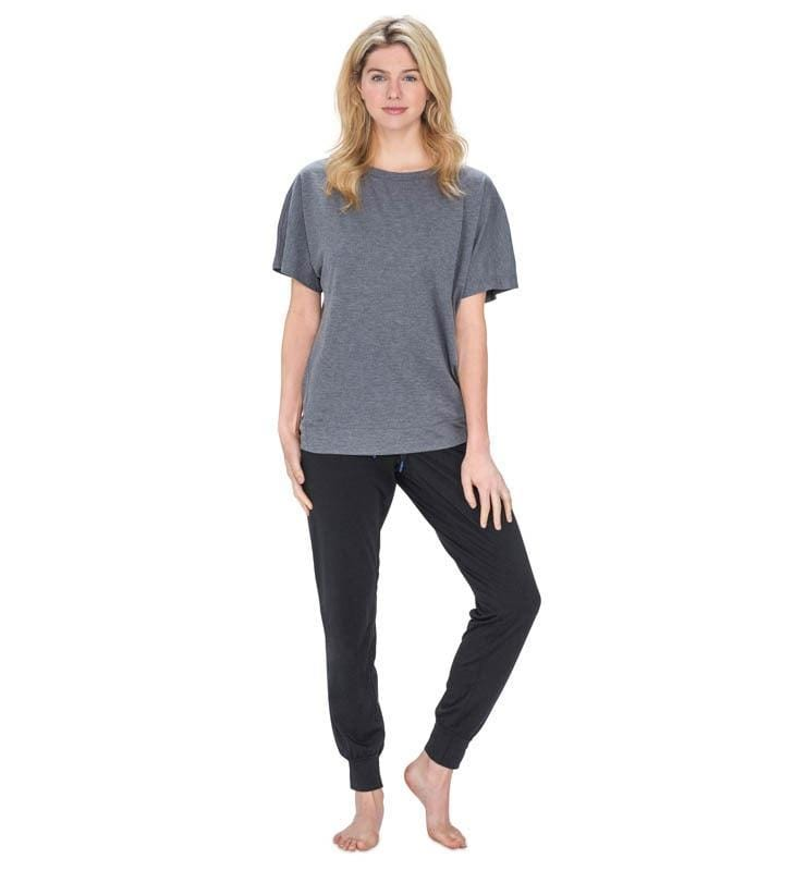 828 Women's Short Sleeve Easy Tee heather-gray front