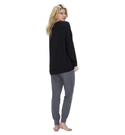 828 Women's Long Sleeve Easy Tee black back