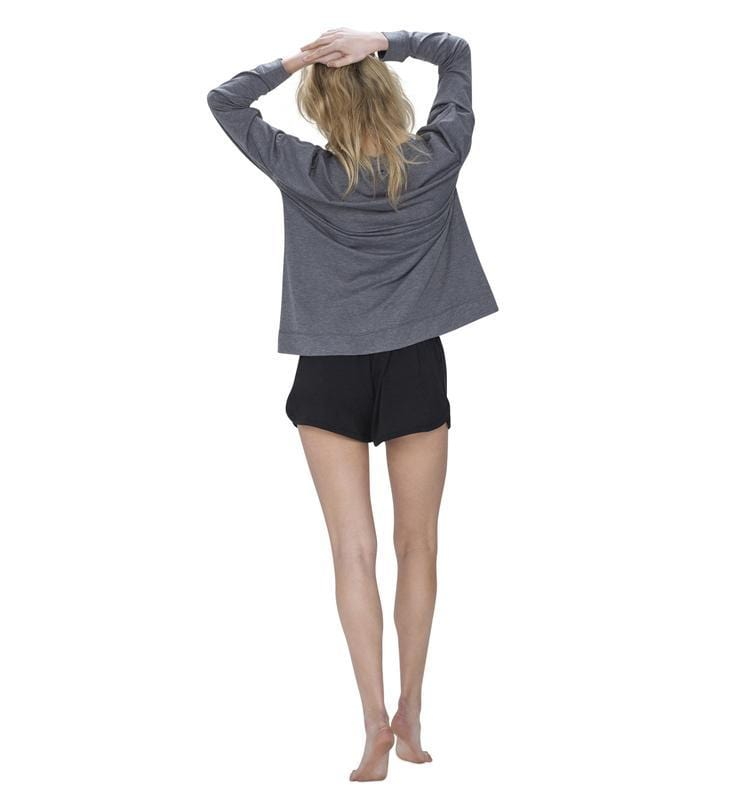 828 Women's Long Sleeve Easy Tee heather-gray back