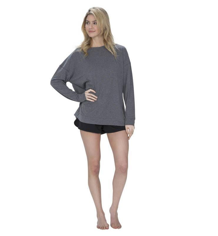 828 Women's Long Sleeve Easy Tee heather-gray front