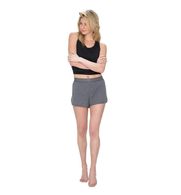 828 Women's On The Fly Short heather-gray front