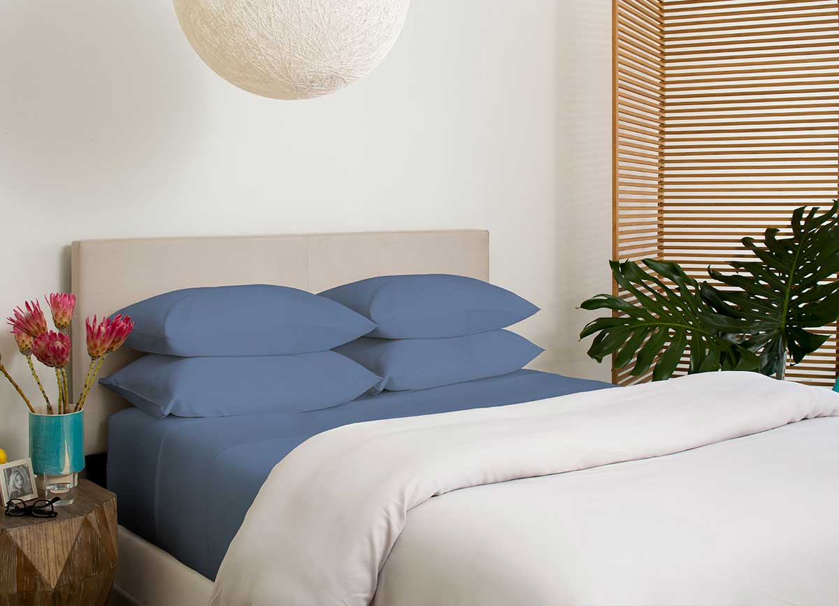 ARCTIC AIRE MAX Pillowcases shown in Denim #choose-your-color_denim