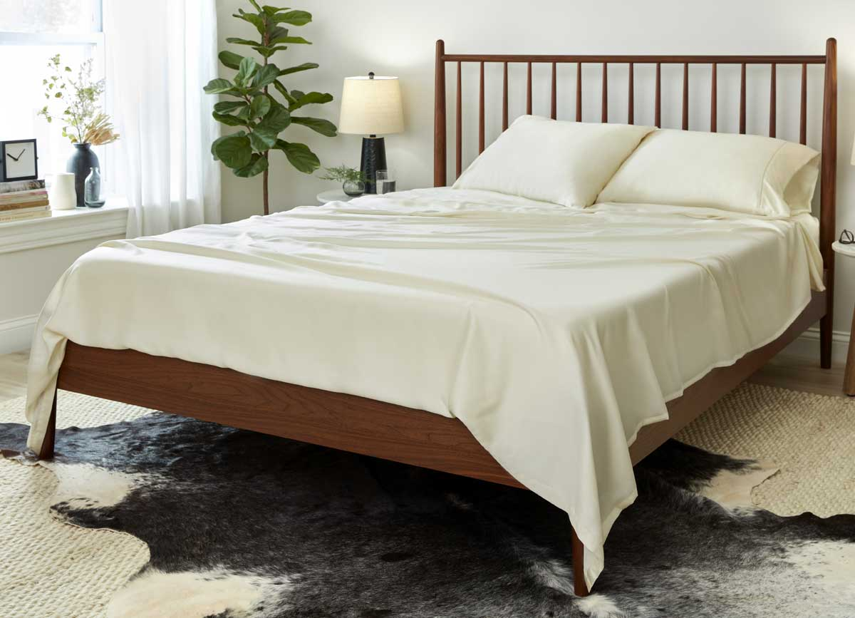 Lifestyle of ARCTIC AIRE•MAX Sheet Set shown in Ivory #choose-your-color_ivory