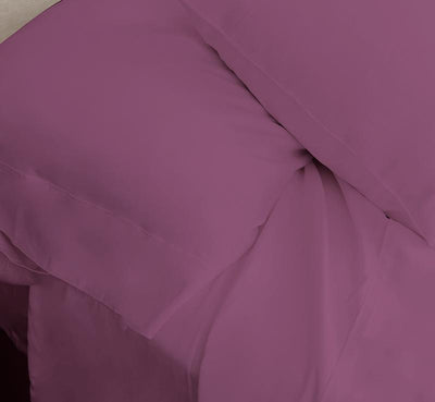 ECOSHEEX Bamboo Origin Pillowcases shown in cranberry #choose-your-color_cranberry