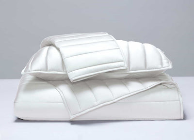 ECOSHEEX Coverlet stacked in Bright White #choose-your-color_bright-white