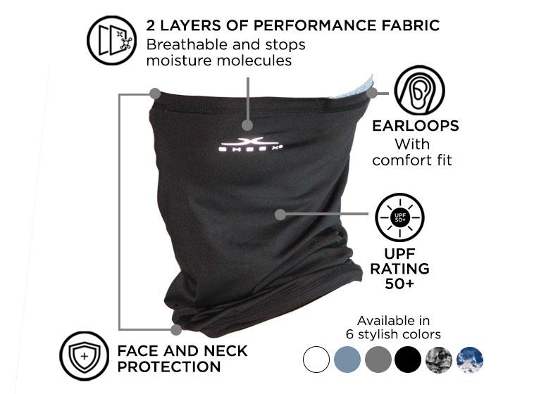 Infographic of SHEEX Gaiter in Black #choose-your-color_black