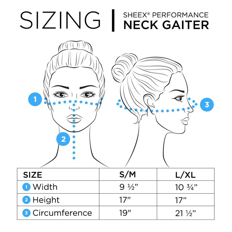 Size Chart for SHEEX Gaiter in Carolina Blue #choose-your-color_carolina-blue