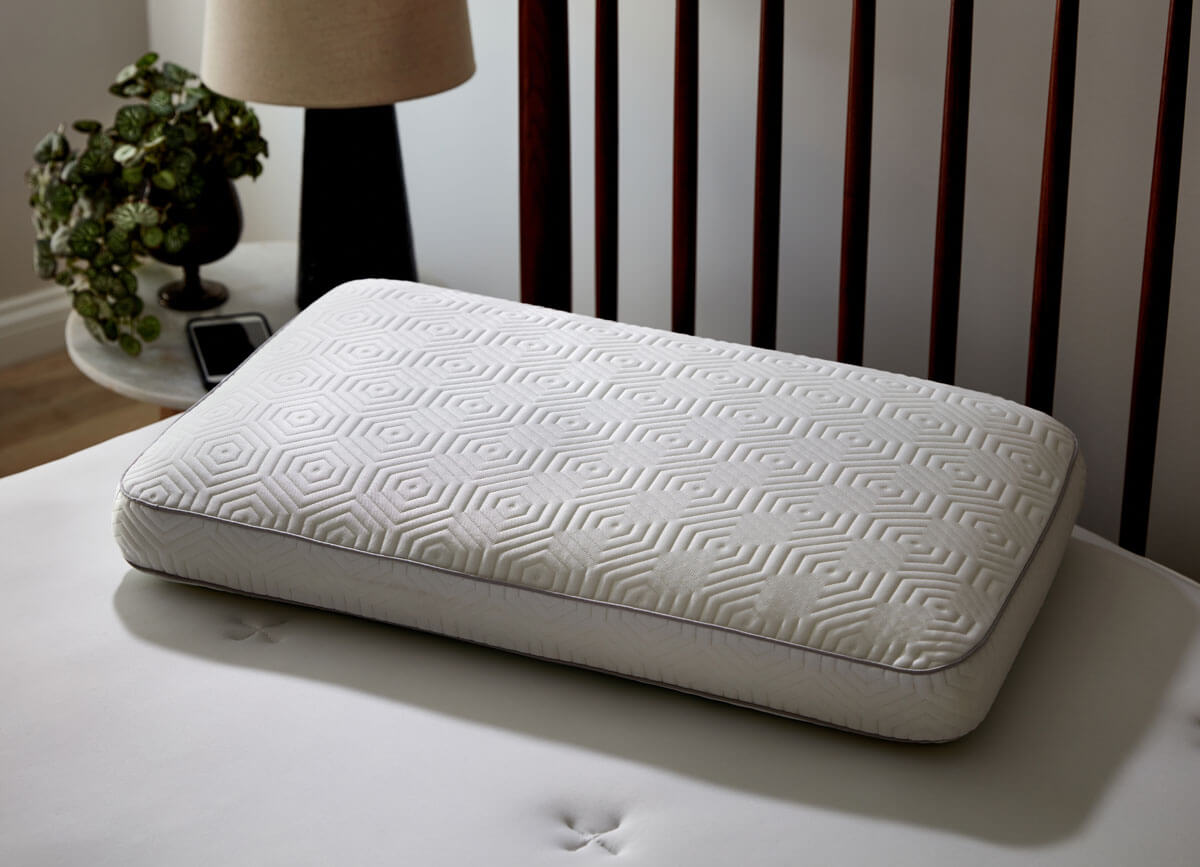 Lifestyle image of Infinite Zen Performance Pillow on bed