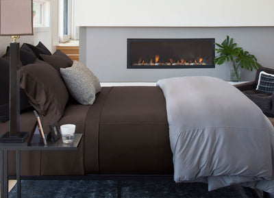 Luxury Copper Sheet Set shown in Chocolate #choose-your-color_chocolate