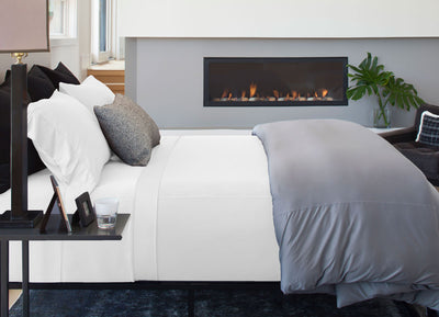 Luxury Copper Sheet Set on bed in White #choose-your-color_white