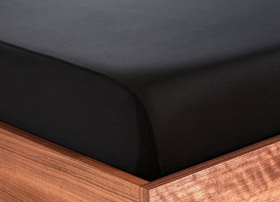 Original Performance Fitted Sheet on bed in Black #choose-your-color_black