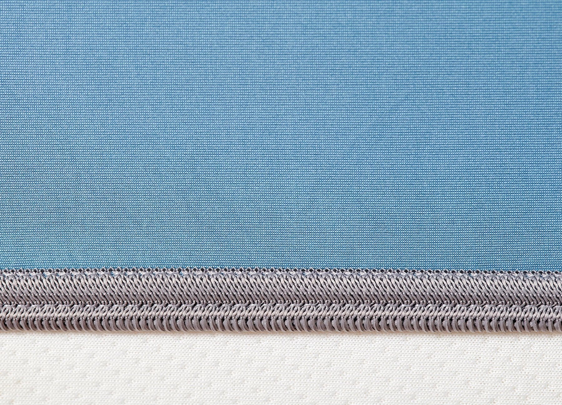 Original Performance Fitted Sheet on bed in Carolina Blue #choose-your-color_carolina-blue