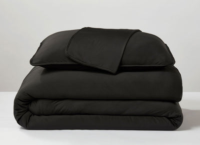 Black  Duvet Cover folded stack #choose-your-color_black