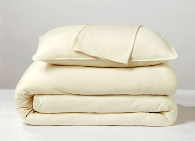 Ecru  Duvet Cover folded stack #choose-your-color_ecru