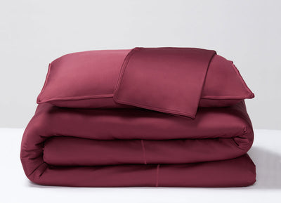 Garnet  Duvet Cover folded stack #choose-your-color_garnet
