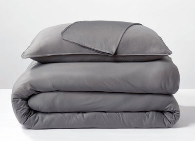 Graphite Duvet Cover folded stack #choose-your-color_graphite