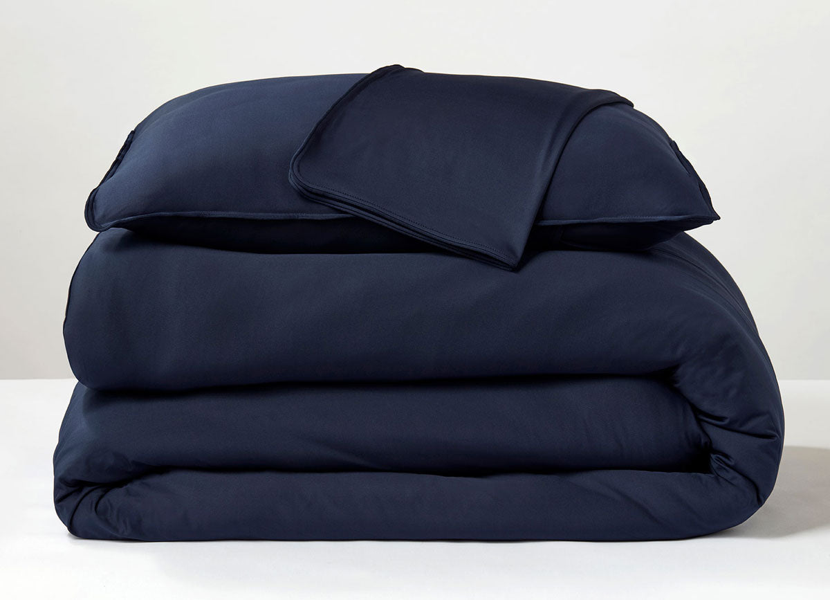 Navy  Duvet Cover folded stack #choose-your-color_navy