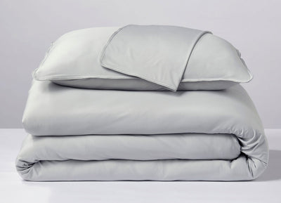 Pearl Blue  Duvet Cover folded stack #choose-your-color_pearl-blue